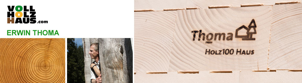 Website Header Erwin Thoma Holzhaus mit Holz 100